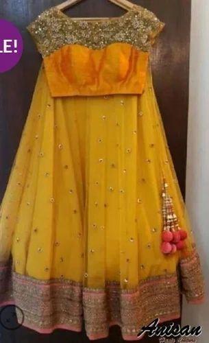 b09d61a392f Yellow Color Designer Lehenga Set, Lehenga Choli, Party Wear Lehenga ...
