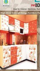Casement Glossy Pvc Door, For Bathroom, Interior