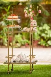 Bar Cart With Marble Top