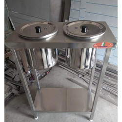 Sb Kitchen Dimensions: 24x12x34 SS 2 Hole Dosa Table