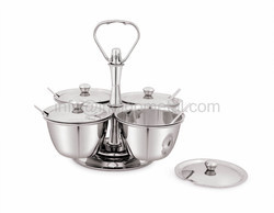 RELISH DISH - STAINLESS STEEL