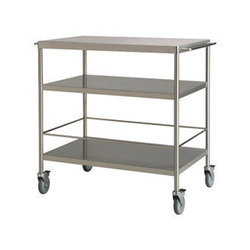 Silver Stainless Steel Utility Trolley