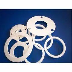 White PTFE (Teflon) Gasket, Round