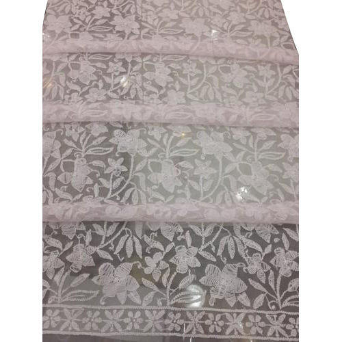 Lucknowi Chikan Embroidery Kurta Fabric At Rs 55 Meter