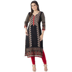 Cotton Designer Embroidery Kurtis