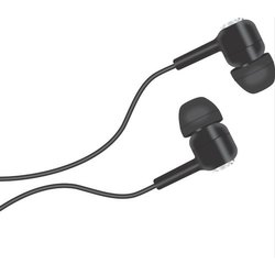 Mobile Black Fira Wired Earphone