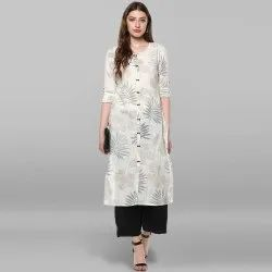 Off White Pure Cotton Kurta(JNE2171)