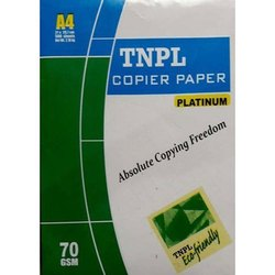 White TNPL Platinum Eco Friendly A4 Paper, 500 Sheet, Packaging Size: 500 Sheets per pack