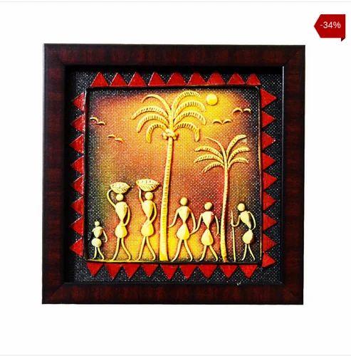 Vibrant Colors H 22 X W 22 X T 1.5 Cm Warli Art Papier Mache Wall Decor Square  sc 1 st  IndiaMART & Vibrant Colors H 22 X W 22 X T 1.5 Cm Warli Art Papier Mache Wall ...