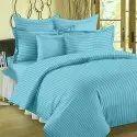 Satin Strips Plain Bedsheet