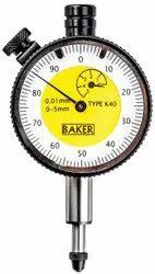 Baker Plunger Type Dial Gauges LC 0.01 mm