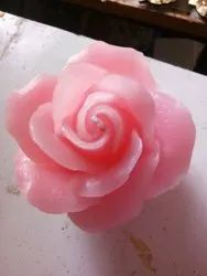 Pink Flower Candles