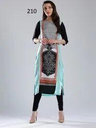 Woman Stitched W Brand Crepe Digital Print Kurti