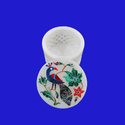 Round Shape White Marble Jewelry Storage Box