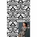 Black And White Printed Fabric, Gsm: 150-200