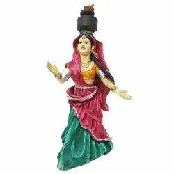 Walking Lady Statue