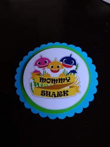 baby shark theme birthday invitation card