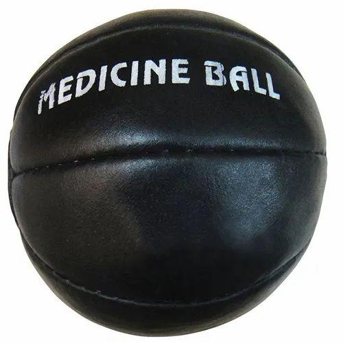 Black Leather Medicine Ball