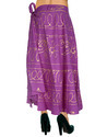 Bandhej Printed Mirror Work Knee Length Skirt
