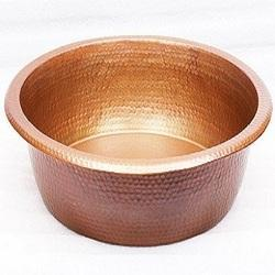Foot Soak Hammered Copper Pedicure Bowl