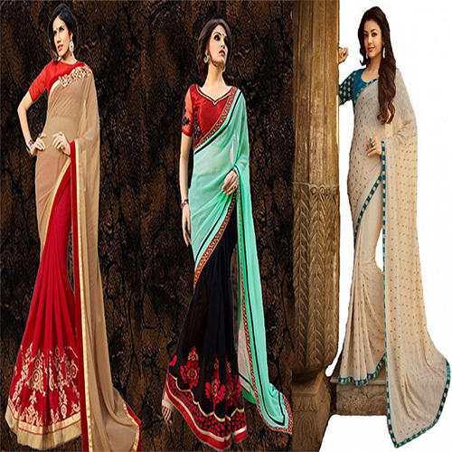 Georgette Patch Work Designer Saree