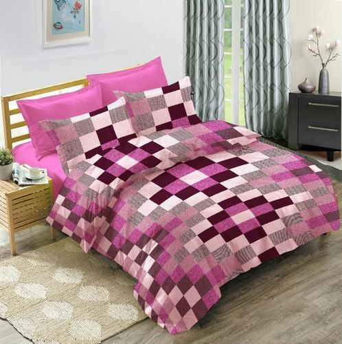 81701feb1 Bombay Dyeing Checkered Cotton Double Checkered Bedsheet
