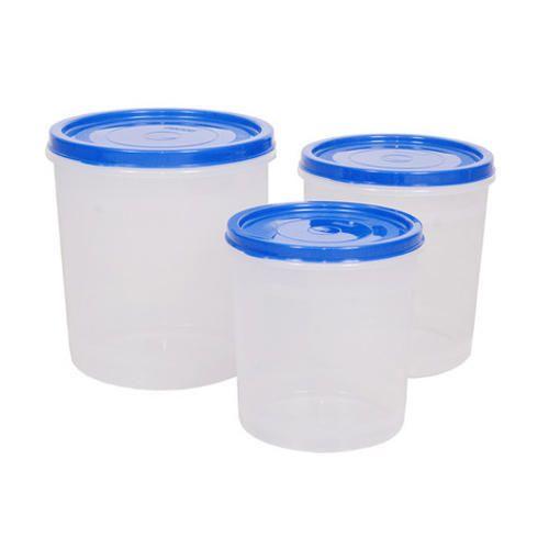 Ziasi Round Plastic Storage Container Set
