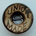 Zinc die casting Designer button for denim