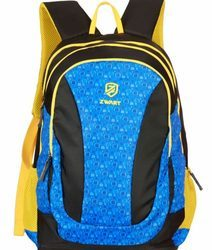 Blue Yellow Pencil Pouch Backpack