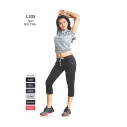 Stretchable Hosiery Ladies Black Capri, Size: 28-38