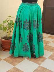 Cotton Printed Long Skirt