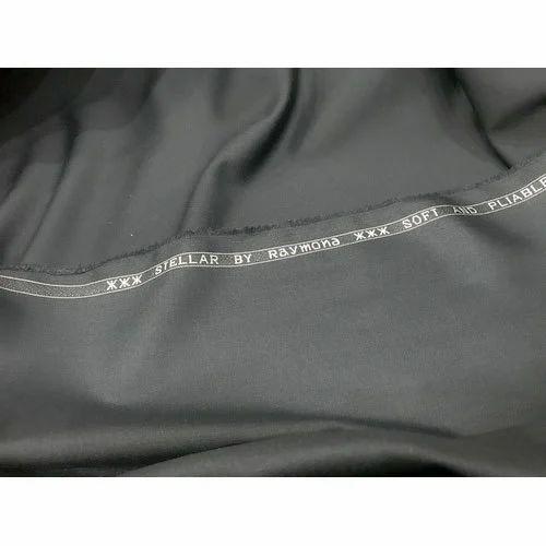 025b2aa6b90 Black Plain Unstitched Mens Raymond Suiting Fabric