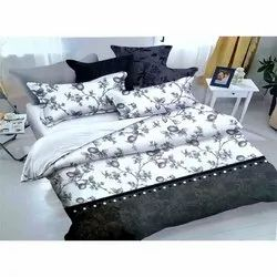 Cotton Satin Printed Double Bed Sheet