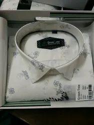 Cotton Slim Fit Mens Printed Casual Shirts