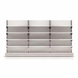 White, Grey Shelf Clipart Book Rack, Packaging Type: Carton