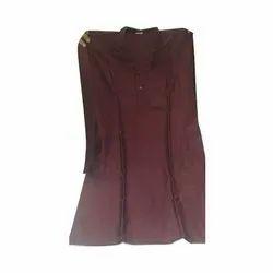 Casual Wear Cotton Men Plain Brown Kurta, Size/Dimension: S,M and L