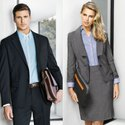 Black And Grey Plain Corporate Office Uniform, Size: Large