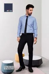 Blue Stripes Unstitched Uniform Shirts And Pant  Formal Work wear for Corporate Office