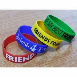 Casual Wear PVC Friendship Wristband, Packaging Type: Box