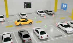 LED Guided Parking Management System