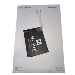 Black Printed Paper Clothes Tag