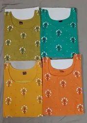 Cotton Straight Designer Kurti, Size: Xxl, Dry clean