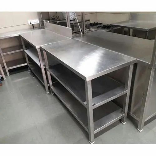 Silver SS Stainless Steel Display Counter, 2 Kw