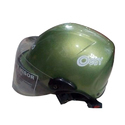 Green Plastic Oggy Motorbike Open Face Helmet, For Head Safety