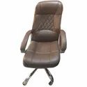 Brown Leather Office Revolving Chair