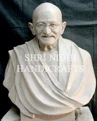 White Marble Gandhi Ji Statue