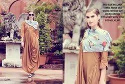 Rachna Bluebell Mode Silk Pattern Cut Kurti with Stole 3