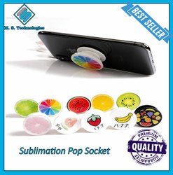 Plastic Black Sublimation Pop Socket, Thickness: 1 Mm, Size: Large