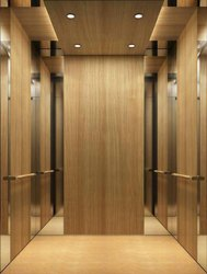 Stainless Steel 6 Wooden Finish Elevator Cabin, For Residential Elevators