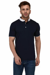 100% Cotton Men Short Sleeve Polo Neck T-Shirt